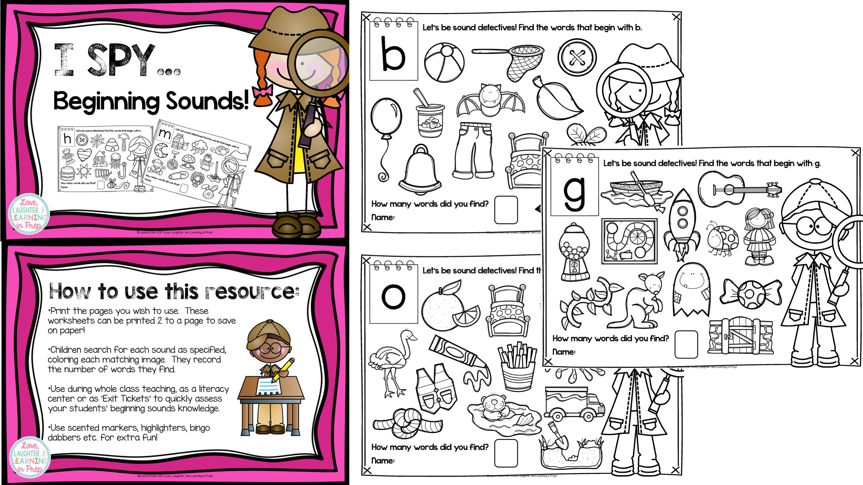 Subjects english phonics i spy beginning sounds please see my store for other hands on resources for little learners robcynllc Images