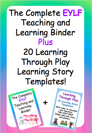 EYLF Binder + Learning Through Play Bundle